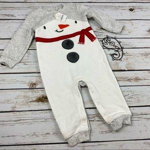 Gymboree Long Romper Size 12-18 Months Snowman